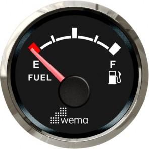 Wema Silver serie tankmeter brandstof NMEA2000 zwart