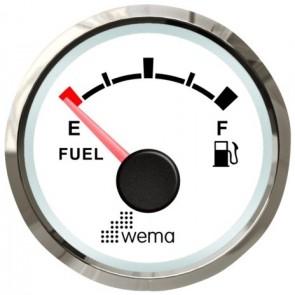 Wema Silver serie tankmeter brandstof NMEA2000 wit