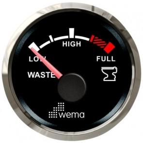 Wema Silver serie vuilwater tankmeter NMEA2000 zwart