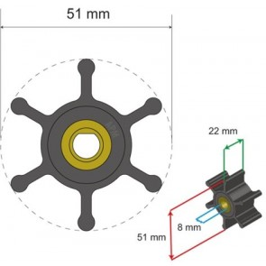 Albin Premium Impeller kit nr. 06-01-009