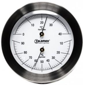 Talamex Thermo-hygrometer rvs 100mm