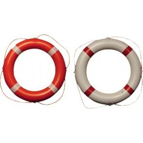 Talamex Reddingsboei pvc wit 60cm met rode strips en witte lijn