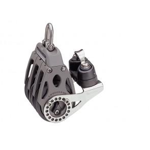 Lewmar ratelblok 1-schijfs met klem + oog 60mm