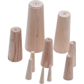 Houten pluggen (10st gesorteerd 8-38mm)