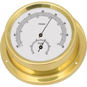 Talamex Thermo-hygrometer messing 125/100mm