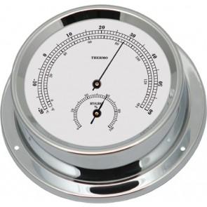 Talamex Thermo-hygrometer verchroomd 125/100mm