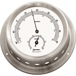 Talamex Thermo-hygrometer rvs 125/100mm