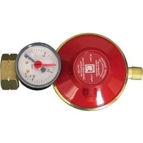 Talamex Gasdrukregelaar shell/combi 30mbar manometer met ¼ l bu