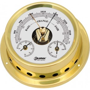 Talamex Baro-/thermo-/hygrometer messing 125/100mm