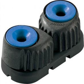 Ronstan C-cleat blauw, medium, zwarte basis