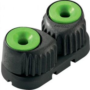 Ronstan C-cleat groen, small, zwarte basis