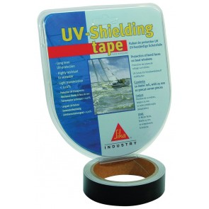 UV-shielding tape SET, 25mm x 10m zwart