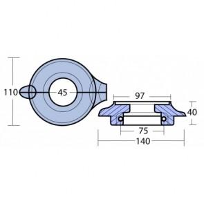 Magnesium-Anoden Set VOLVO Saildrive 130/150