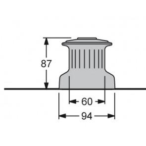 Antal W6 winch one speed one direction (glass fibre drum - alu shaft)