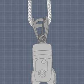 Wichard MXEvo 6 valsluiting met gezekerde pin