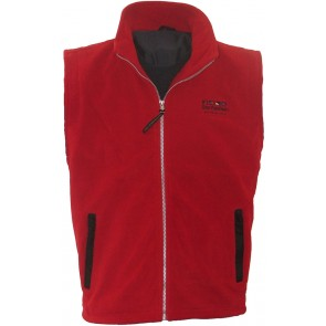 Windstop fleece bodywarmer Norderney Dry Fashion rood