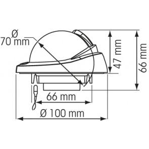 Plastimo Offshore 75 inbouw kompas zwart - zwarte roos conisch