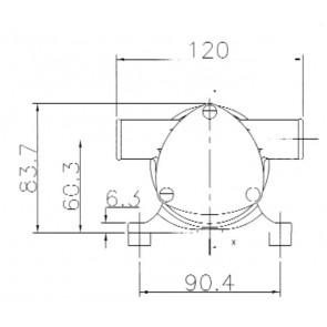 Jabsco bilge- en dekwaspomp Water Puppy 24V 32 l/m 1/2