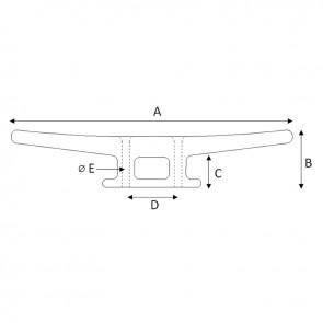 Lalizas kikker polyamide - 60mm - wit