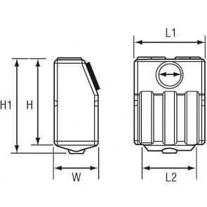 Lalizas ZEFIRO vuilwatertank verticaal - 60 liter