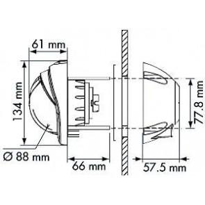 Plastimo Mini-Contest 2 kompas zwart, conische roos rood