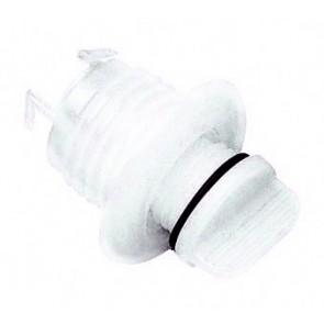 Plastimo lensplug wit rond 27 mm int geborgde dop