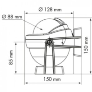 Plastimo Offshore 95 kompas zwart, conische roos zwart, bracket