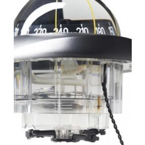 Plastimo Olympic 115 inbouw kompas zwart - zwarte roos conisch