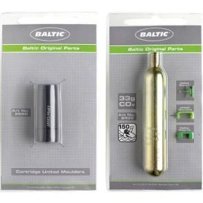 Baltic reddingsvest 33 gr Co2 cylinder met safety indicator + smeltcilinder