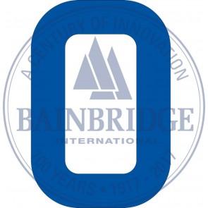 Bainbridge Zeilnummer 300 mm blauw 0