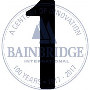 Bainbridge Zeilnummer 300 mm zwart 1
