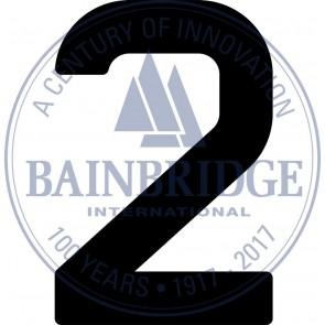 Bainbridge Zeilnummer 300 mm zwart 2