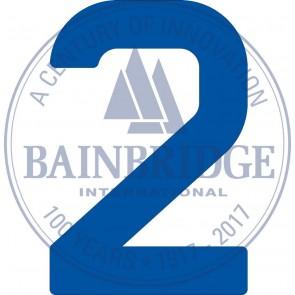 Bainbridge Zeilnummer 300 mm blauw 2