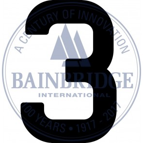 Bainbridge Zeilnummer 300 mm zwart 3