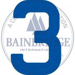 Bainbridge Zeilnummer 300 mm blauw 3