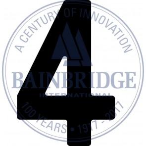Bainbridge Zeilnummer 300 mm zwart 4