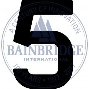 Bainbridge Zeilnummer 300 mm zwart 5