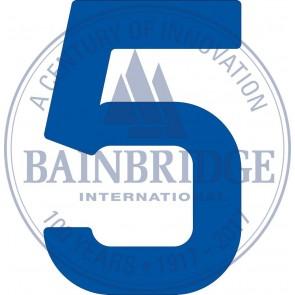 Bainbridge Zeilnummer 300 mm blauw 5