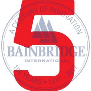 Bainbridge Zeilnummer 300 mm rood 5