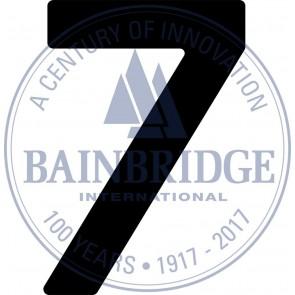Bainbridge Zeilnummer 300 mm zwart 7