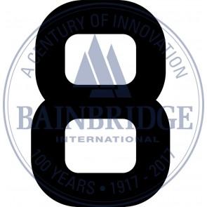 Bainbridge Zeilnummer 300 mm zwart 8