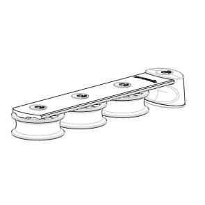 Spinlock Valgeleider 3x 50 mm schijf a-symetrisch-zijaanzicht