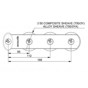 Spinlock Valgeleider 3x 50 mm schijf a-symetrisch