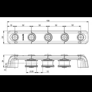Spinlock T25 Valgeleider 3x25mm