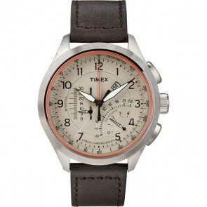 Timex IQ Linear Indicator Chronograph donkerbruin T2P275