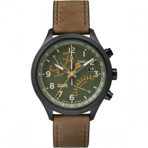 Timex IQ Fly-Back Chronograph groen/olijf T2P381
