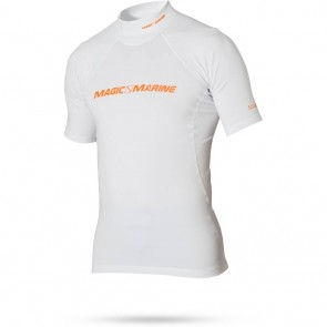 Magic Marine Cube Rash Vest S/S Men white