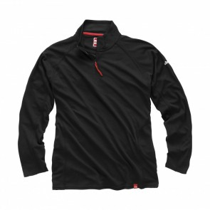 Charcoal - Gill Men's UV Tec Zip Neck L/S Shirt
