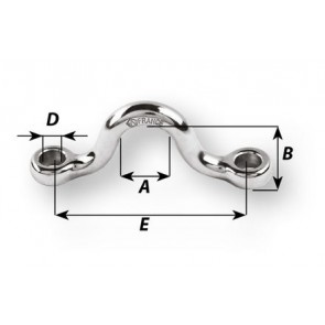 Wichard Dekbeugel HR RVS 4 mm