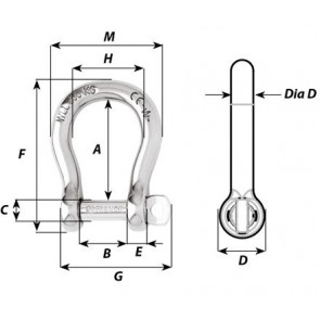 Wichard zelfborgende Harpsluiting - d 8